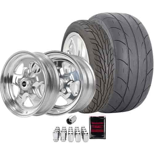 McGard 84532K1 - McGard/JEGS/Mickey Thompson Muscle Car Wheel & Tire Package
