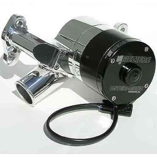 SmallBlock Chevy SBC Electric High Volume Water Pump Black Billet Aluminum 50gpm