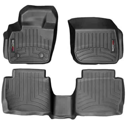 weathertech 44483 1 2 digitalfit floor mats 2013 14 ford fusion jegs. Black Bedroom Furniture Sets. Home Design Ideas