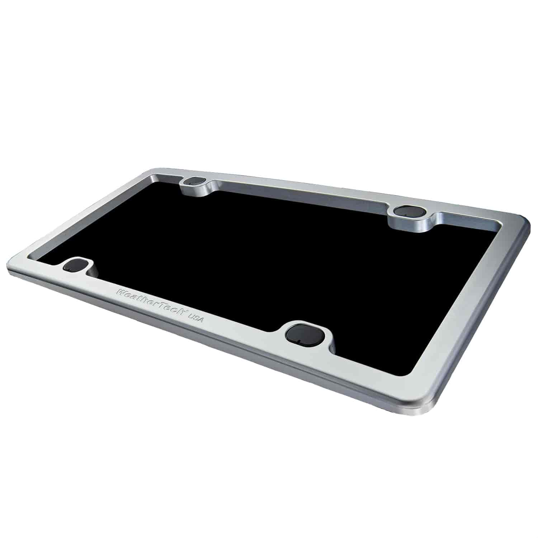 WeatherTech 8ALPF2: Billet License Plate Frame - Clear Bright Silver ...
