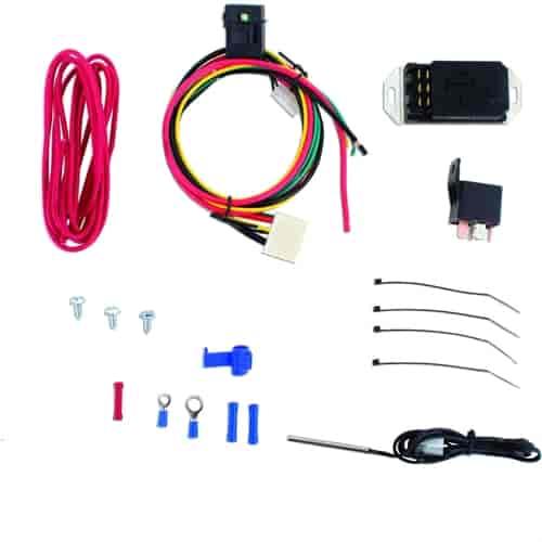 Fan Controller Kit Push In Radiator Probe Style Temp Sensor JEGS #032CC8
