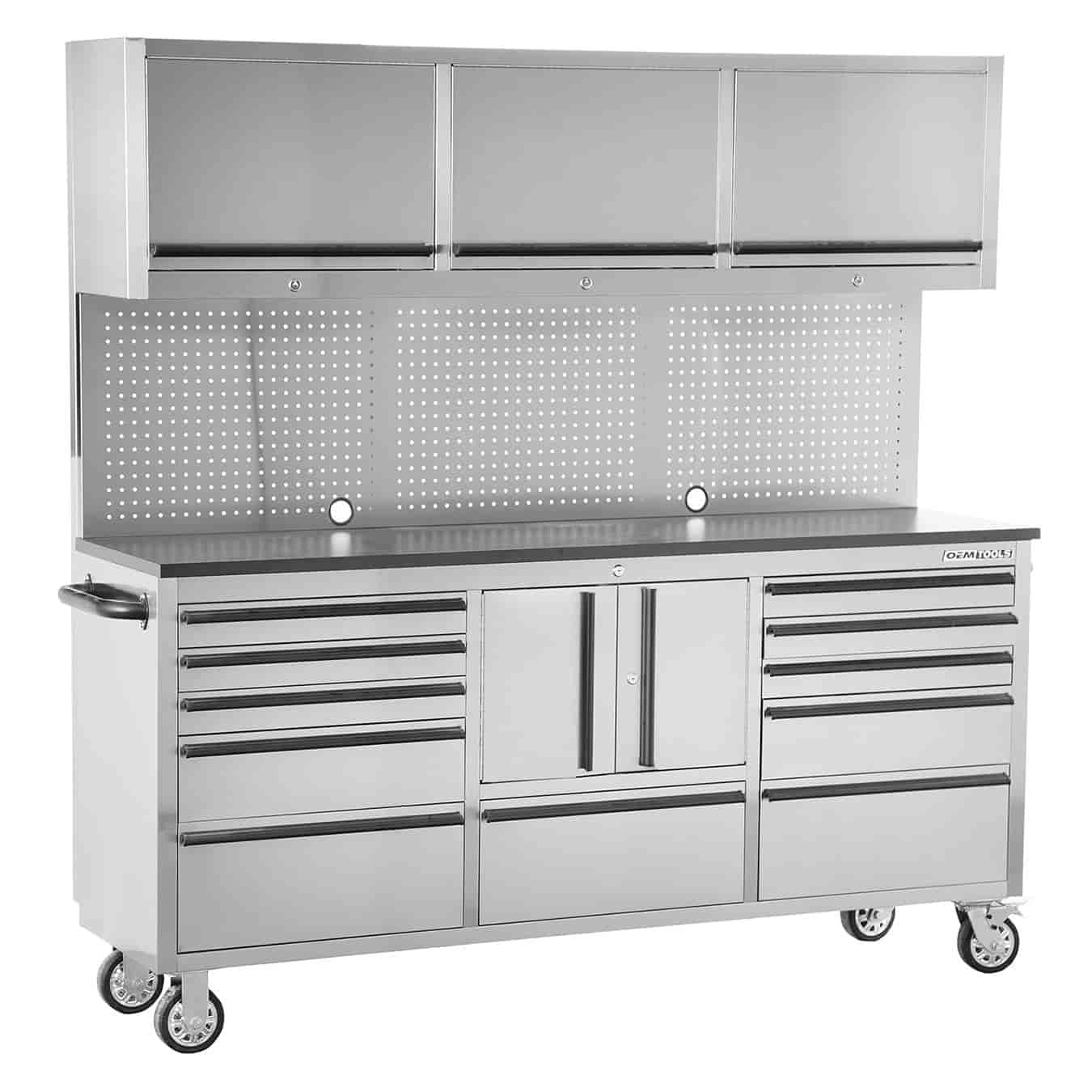 OEMTOOLS 24615 72 In. 11 Drawer Tool Box And Upper Cabinet