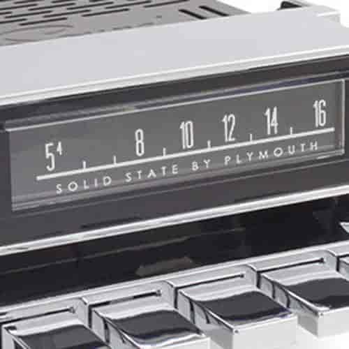 RetroSound Mopar-licensed Vintage Look Radio Dial Screen Protectors  Plymouth Logo