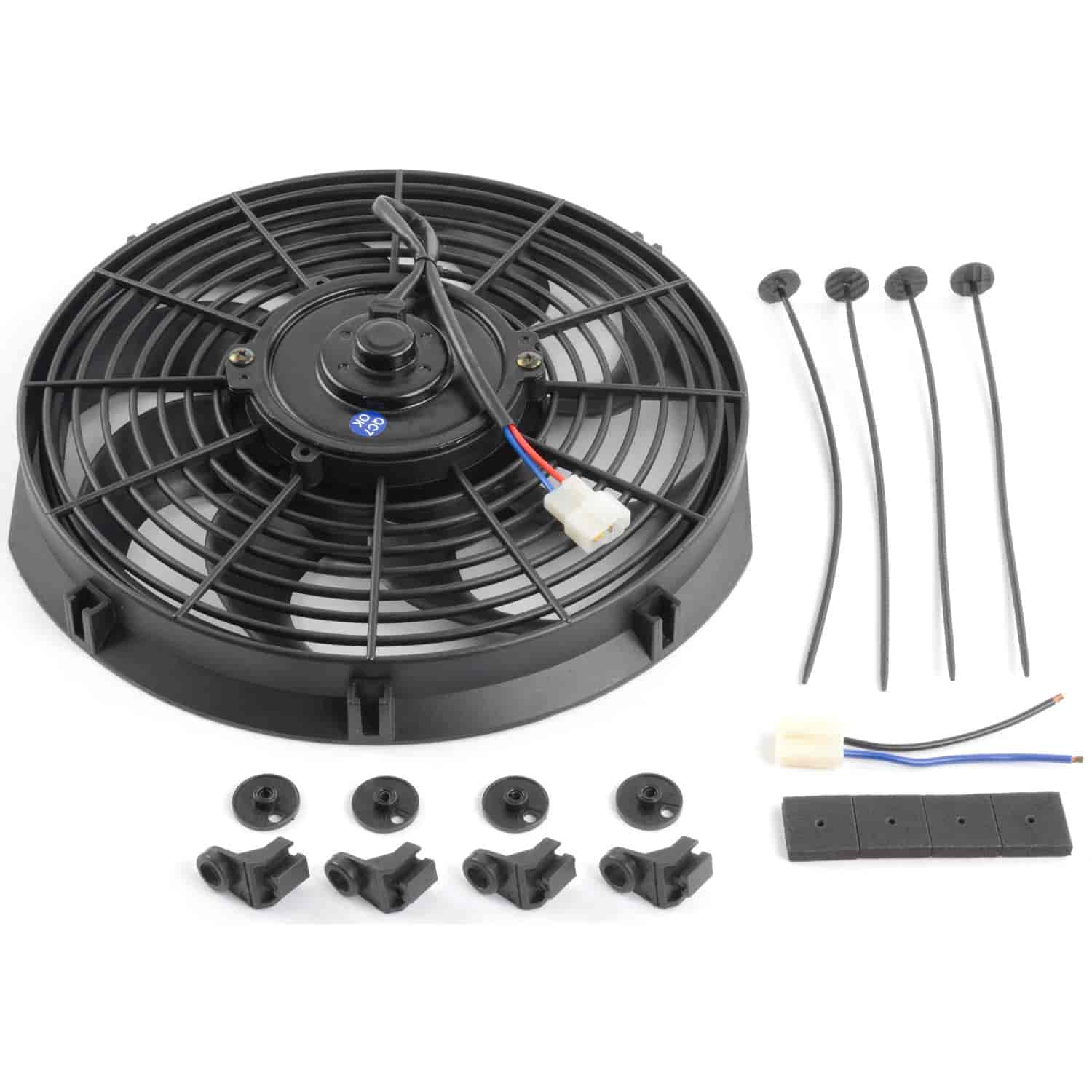 """R1012 12/""""/"""" Universal Electric Fan With 1450cfm 12v Reversable Rpc Racing Power"""