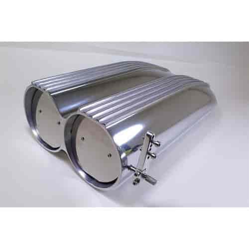 Shotgun Air Scoop Linkage : Rpc r b finned aluminum shotgun hood scoop paper filter