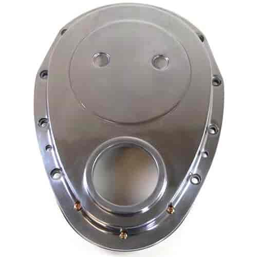 Chevrolet Performance 12562818 Timing Chain Cover: RPC R6043 Steel 2-Piece Timing Chain Cover Small Block