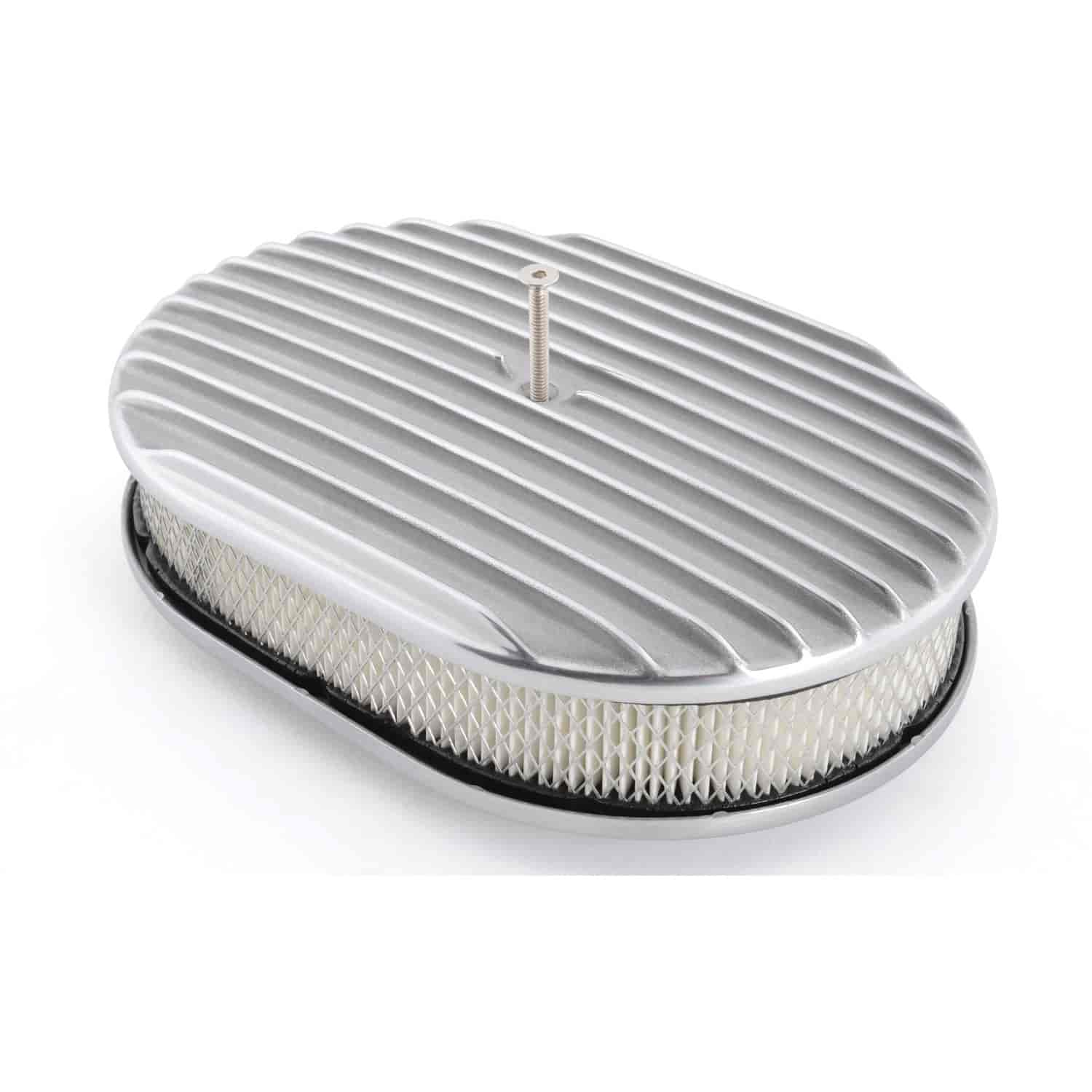 Nostalgia Air Cleaners : Rpc r nostalgic polished aluminum oval air cleaner kit