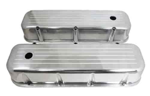 Big Block Chevy Polished Aluminum Ball Milled Valve Covers 396 427 454 502