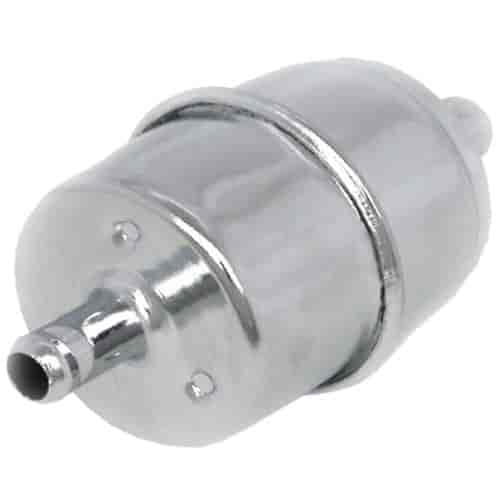 """Chrome Steel Disposable Fuel Filter 3//8/"""" Inlet /& Outlet with Paper Element"""