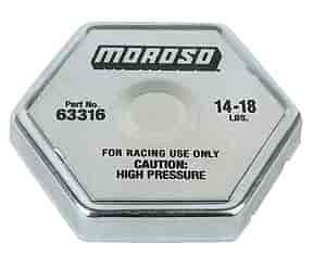 Moroso 63316 - Moroso Racing Radiator Caps & Covers