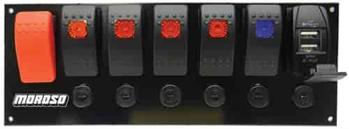 Moroso 74194 rocker led switch panel circuit breakers usb moroso 74194 sciox Images