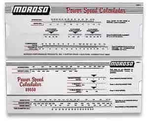 Moroso 89650 - Moroso Power-Speed Calculator