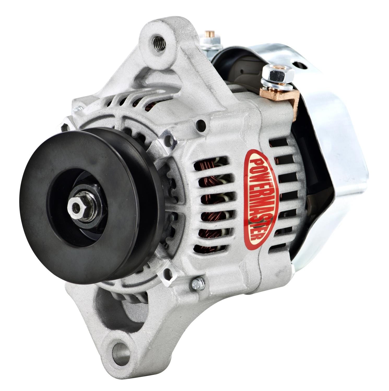 powermaster denso style 93mm race alternator 55 amp 1 wire Denso Starter Diagram