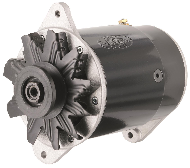 Powermaster  GM Short PowerGEN Alternator Black JEGS - 1968 cadillac alternator wiring