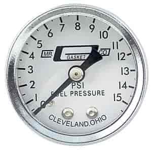 Nitrous Express 15511 0-15 psi Fuel Pressure Gauge with Adaptor