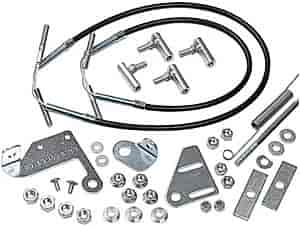 Mr. Gasket 3831G - Mr. Gasket Tunnel Ram/Supercharger Quad Linkage Kit