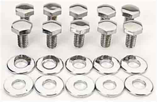 Mr. Gasket 5008 - Mr. Gasket Chrome Timing Cover Bolts