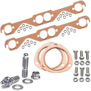 Mr. Gasket 7150K1 - JEGS/Mr. Gasket/ARP Copper Exhaust Gasket and Stainless Stud Kits