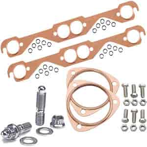 Mr. Gasket 7150K2 - JEGS/Mr. Gasket/ARP Copper Exhaust Gasket and Stainless Stud Kits
