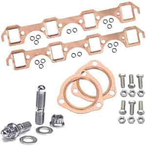 Mr. Gasket 7160K - JEGS/Mr. Gasket/ARP Copper Exhaust Gasket and Stainless Stud Kits