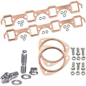 Mr Gasket 7160K2 - JEGS/Mr. Gasket/ARP Copper Exhaust Gasket and Stainless Stud Kits