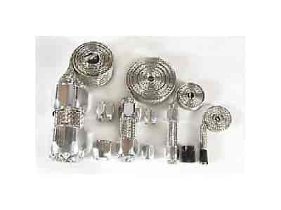 Mr. Gasket 8092 - Mr. Gasket Stainless Steel Hose Cover Kits