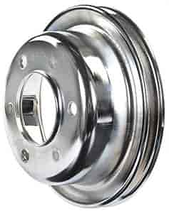 Mr. Gasket 8827 - Mr. Gasket Chrome-Plated Steel Pulleys