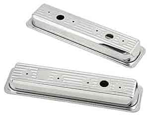Mr. Gasket 9415 - Mr. Gasket Chrome-Plated Steel Valve Covers