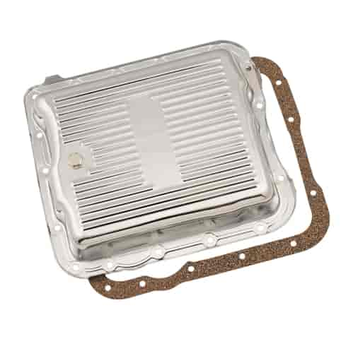 Mr Gasket 9732 - Mr. Gasket Chrome Transmission Pans