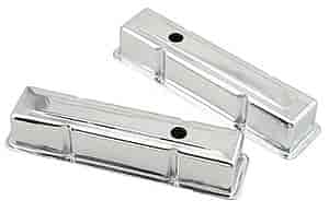 Mr. Gasket 9801 - Mr. Gasket Chrome-Plated Steel Valve Covers