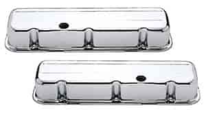 Mr. Gasket 9802 - Mr. Gasket Chrome-Plated Steel Valve Covers