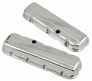 Mr. Gasket 9803 - Mr. Gasket Chrome-Plated Steel Valve Covers