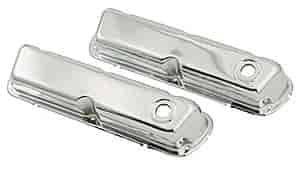 Mr. Gasket 9804 - Mr. Gasket Chrome-Plated Steel Valve Covers