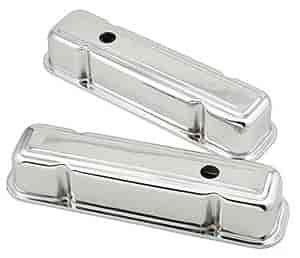 Mr. Gasket 9805 - Mr. Gasket Chrome-Plated Steel Valve Covers