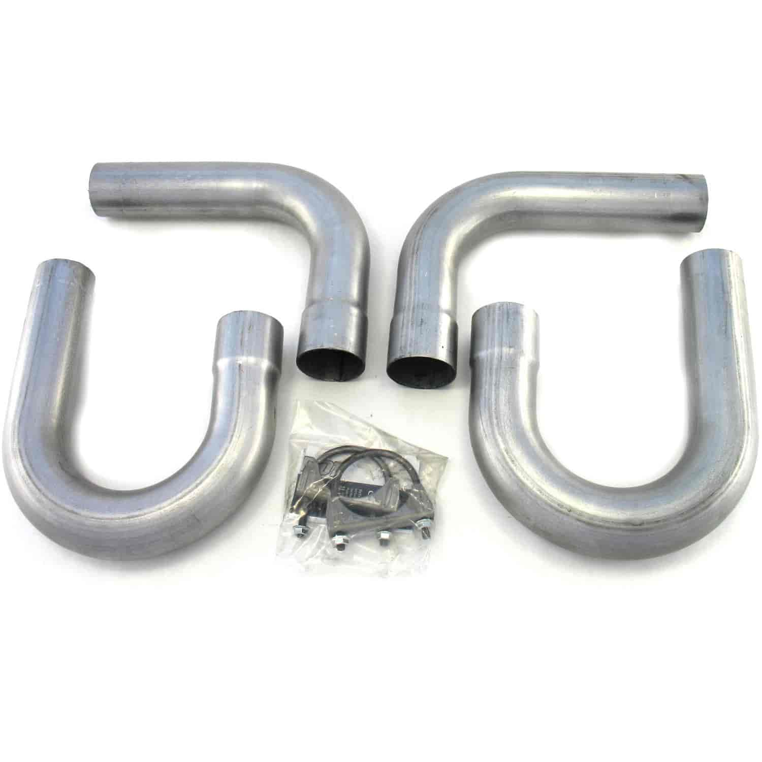 """Patriot Exhaust H7402 Side Pipe Universal Hookup Kit 2.5/"""" Inlet//Outlet"""