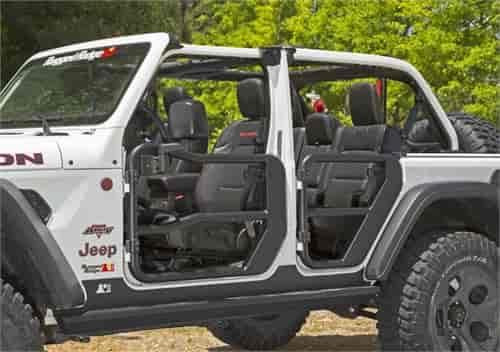 Rugged Ridge 11509 14 Rear Tube Doors For 2018 2020 Jeep Wrangler Jl Unlimited 4 Door Jegs