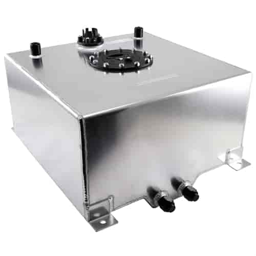Speedmaster Polished Aluminum Fuel Cell with Sender Capacity: 10 Gallons