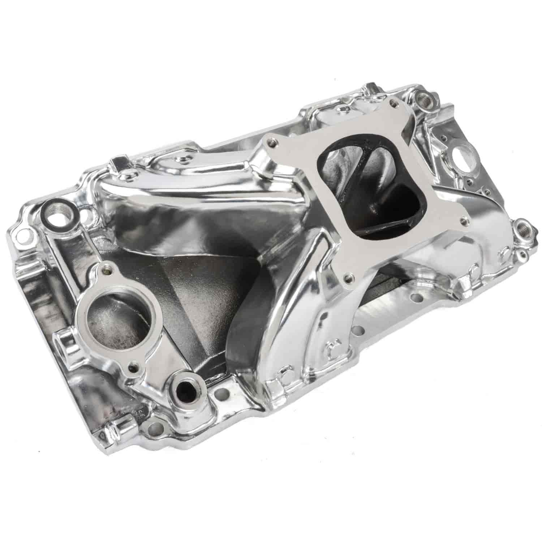 Speedmaster Intake Manifold PCE147.1122; Podium Natural Aluminum Ford Flathead