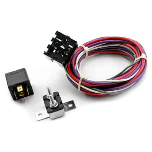 speedmaster pce184 1007 electric fan wiring harness kit includes rh jegs com