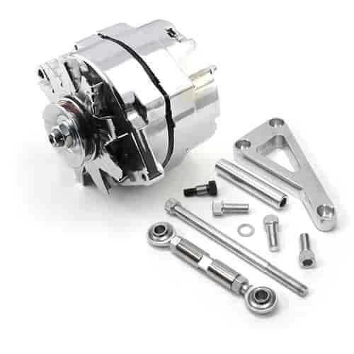 speedmaster pce360 1101 high output 3 wire alternator bracket kit sbc w water jegs