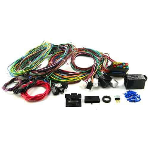 speedmaster pce368 1001 20 circuit wiring harness kit universal jegs rh jegs com wiring harness kit for terminal blocks wiring harness kit for utility trailer