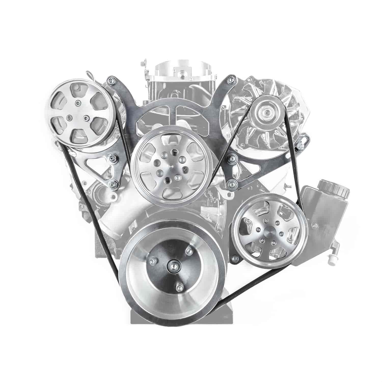 Speedmaster Serpentine Engine Pulley Kit Small Block Chevy 350
