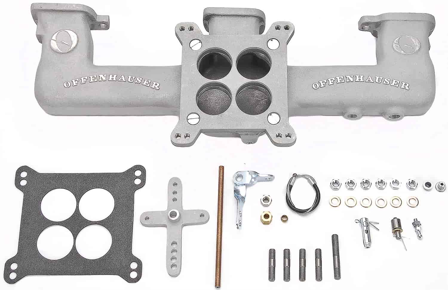 Offenhauser Quad Carb Intake Manifold Kit 1962-Up Chevy 194/230/250/292