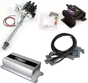 pertronix d100700k thrower ii distributor kit sb bb chevy standard deck ebay