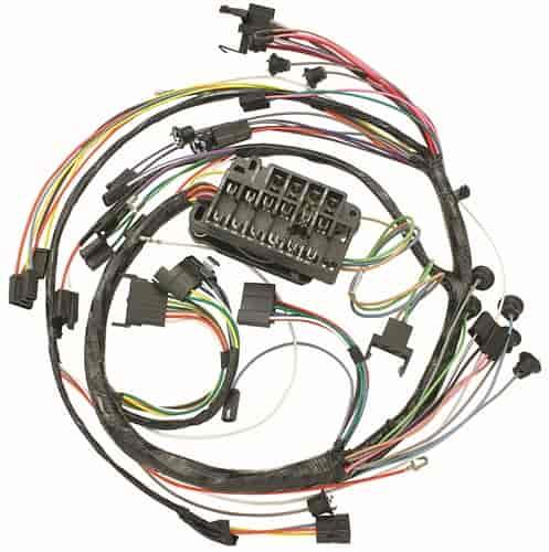 restoparts wiring harness dash 1966 chevelle/el camino gauges/console   restoparts 09460