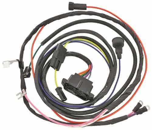 restoparts wiring harness engine 1966 chevelle/el camino 396/warning  lights  restoparts 09630