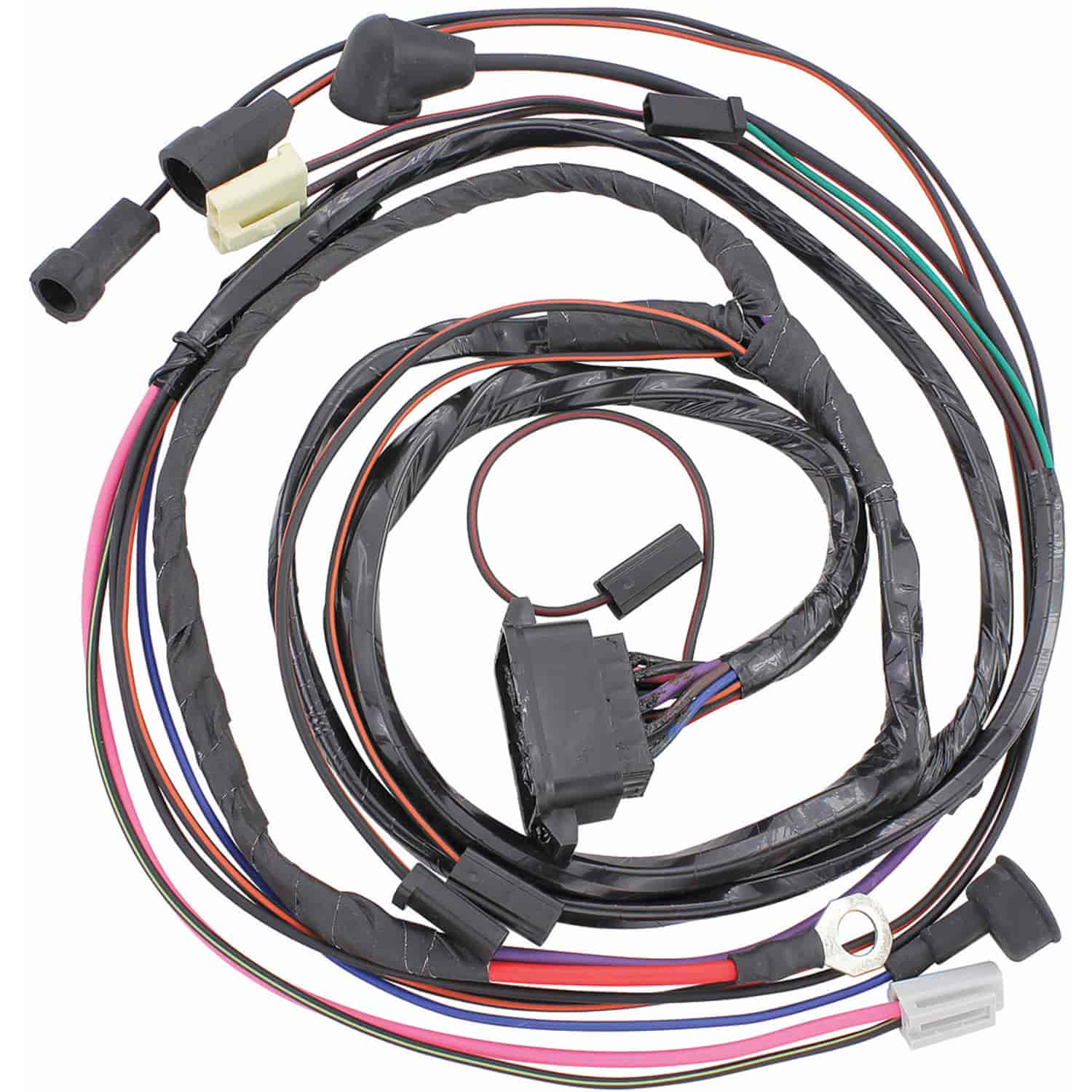restoparts 40255: wiring harness engine 1965 gto/lemans ... 1965 mustang wiring harness 1965 lemans wiring harness #11