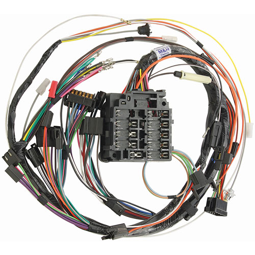 restoparts mh17370 wiring harness dash 1968 gto lemans tempest rh jegs com