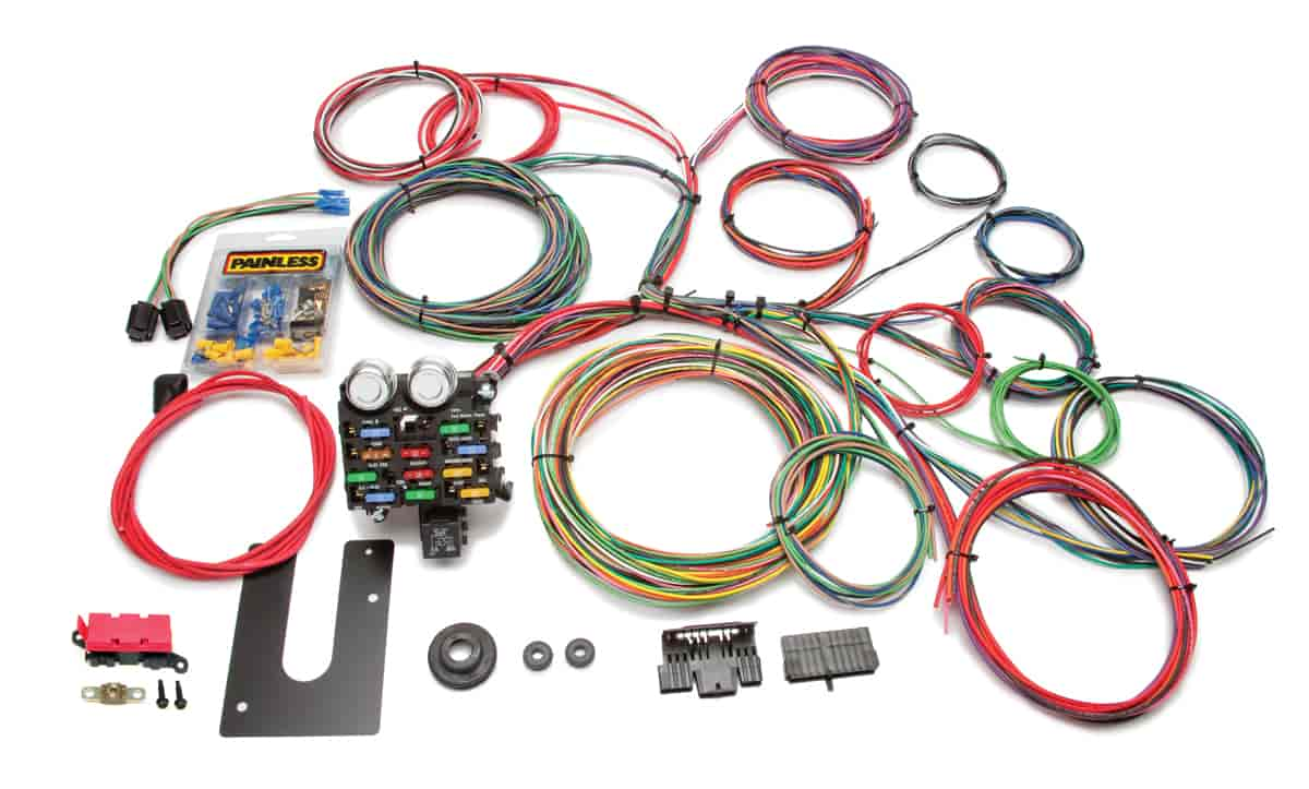 painless 10102 universal 21 circuit classic chassis harness in rh jegs com