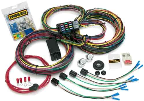painless 10127 customizable 21 circuit chassis harness 1966 76 rh jegs com